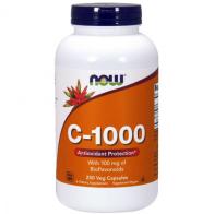 C 1000 Vitamina 250 veg caps 100mg bioflavanoids Now Foods