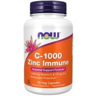 Vitamina C 1000 Zinc Immune 90 Veg Caps Now foods
