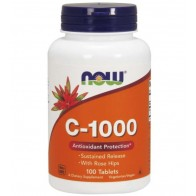 C 1000 Vitamina 100 tablets Now Foods